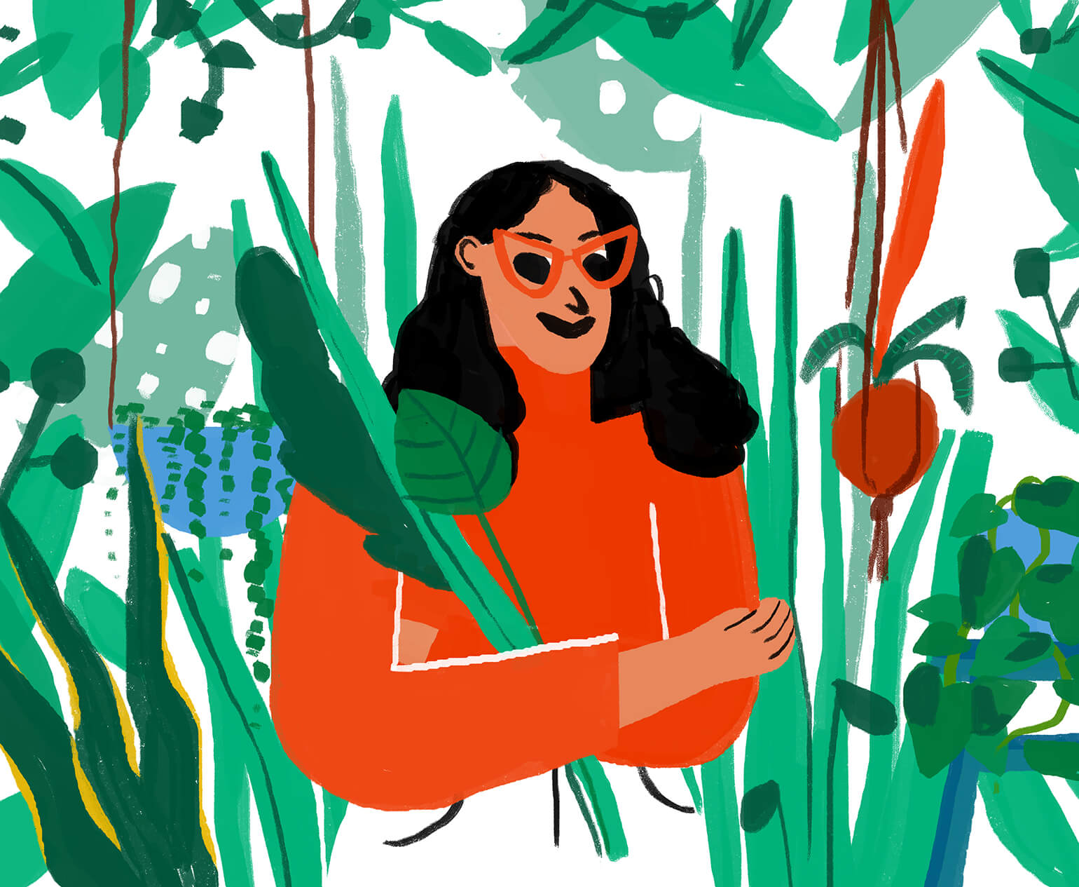 self-portrait-houseplants-woman