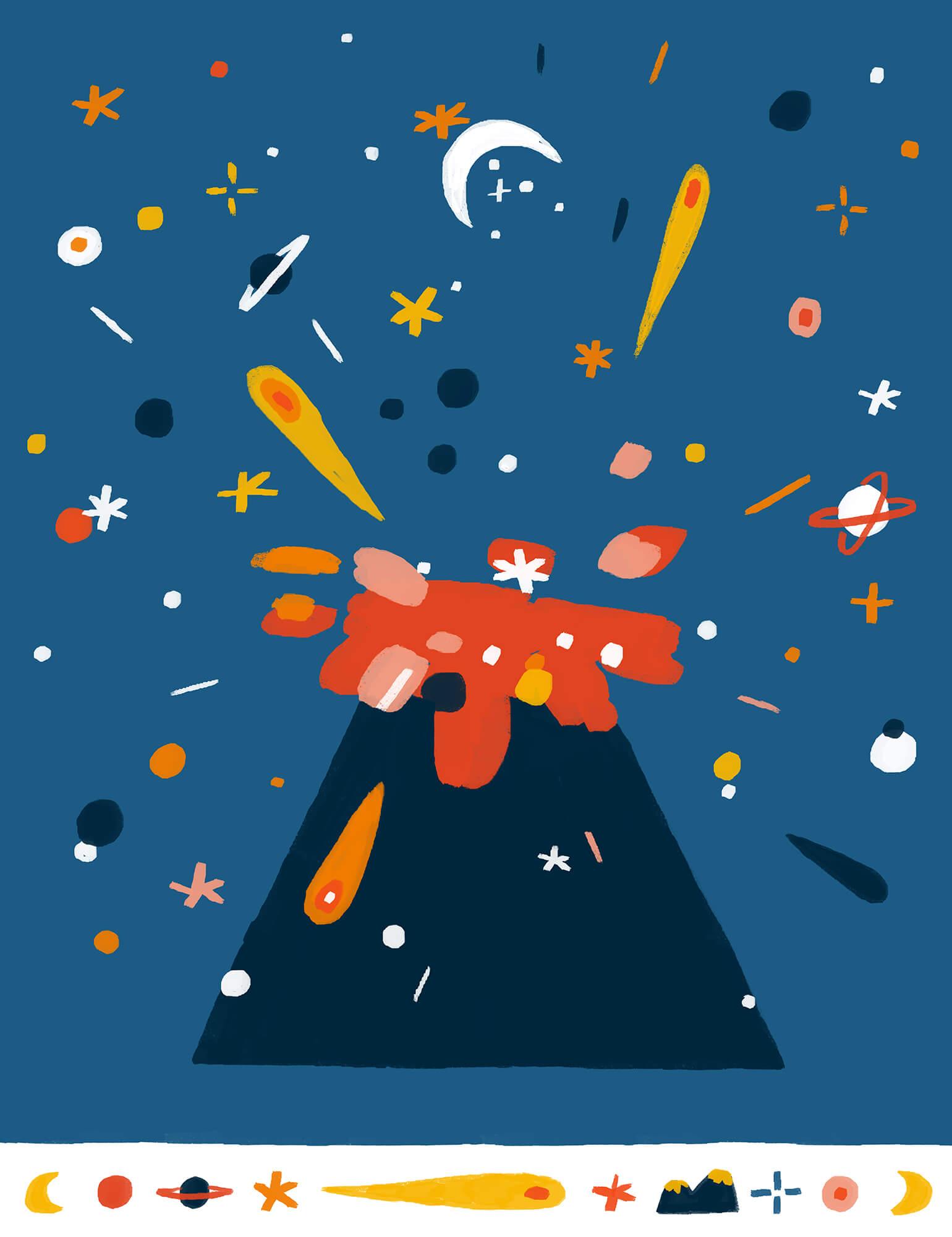 universe-volcano-stars-asteroid-violeta-noy