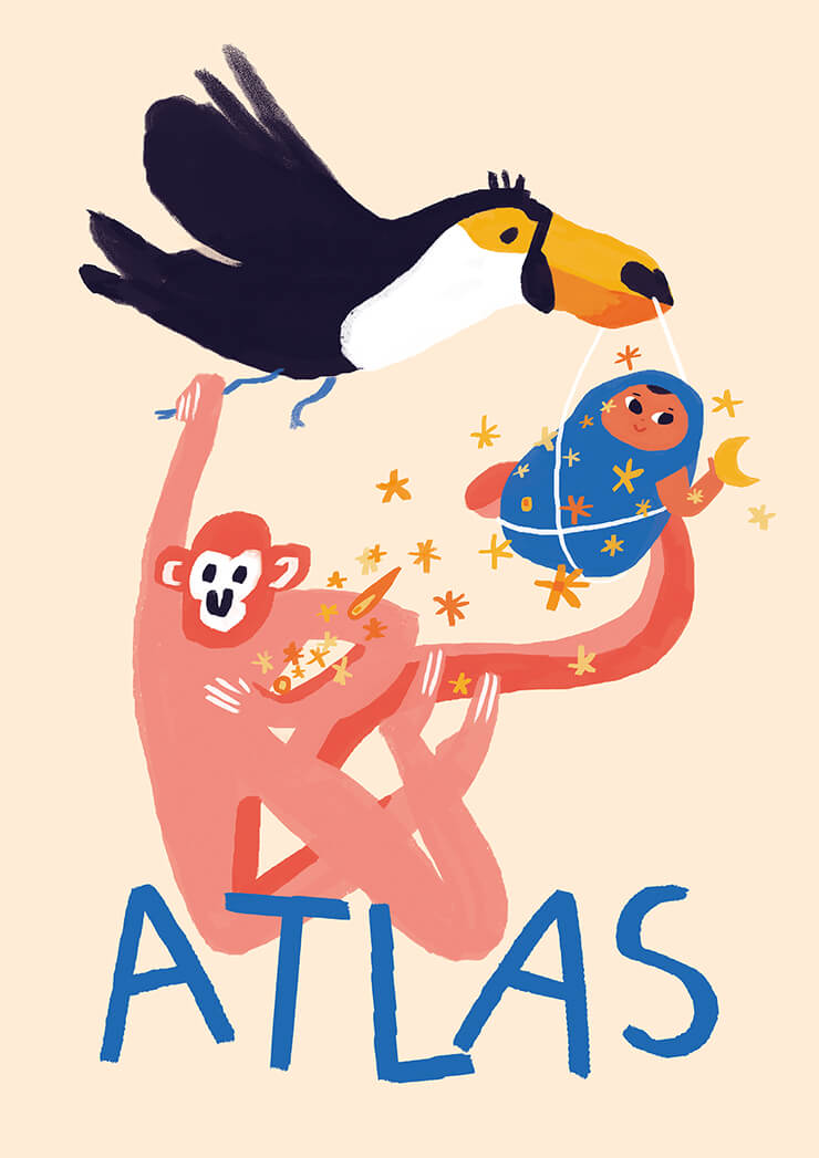 birth card / atlas