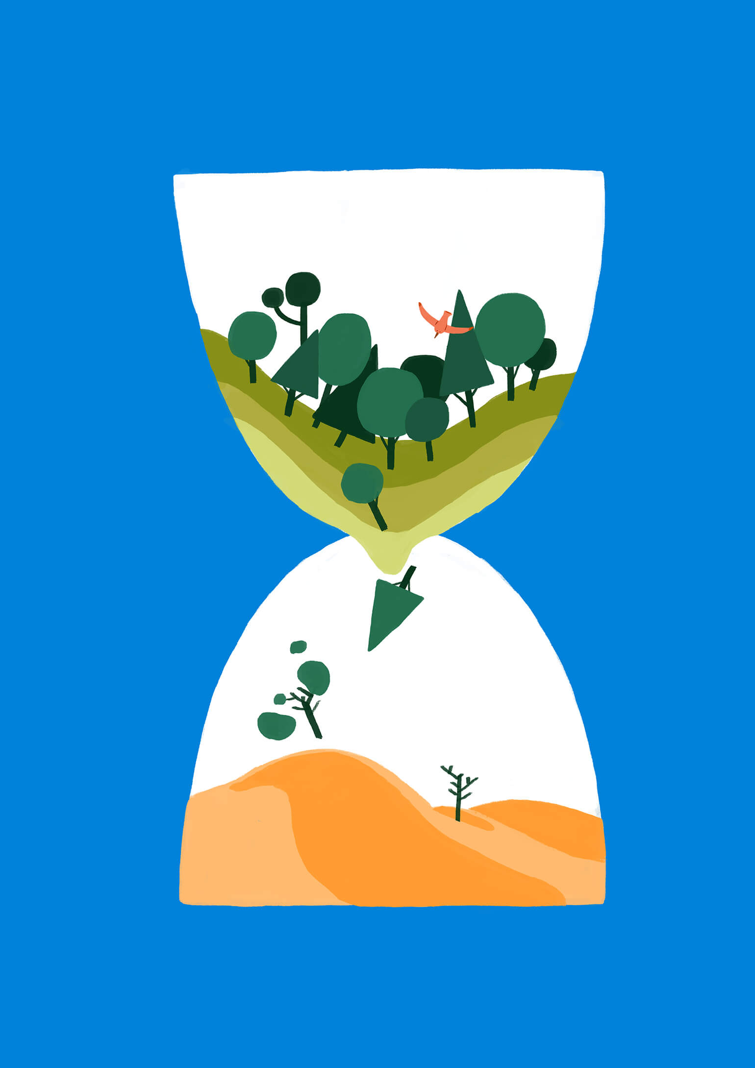 climate-change-hourglass-sand-forest-time-illustration-violeta-noy