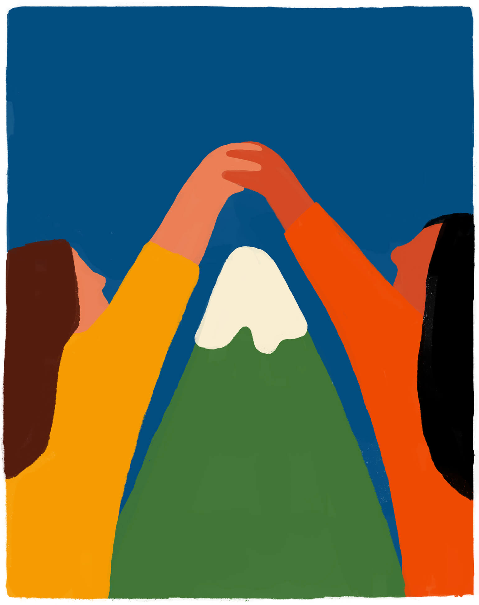women-mountain-holding-hands-illustration-connection-violeta-noy