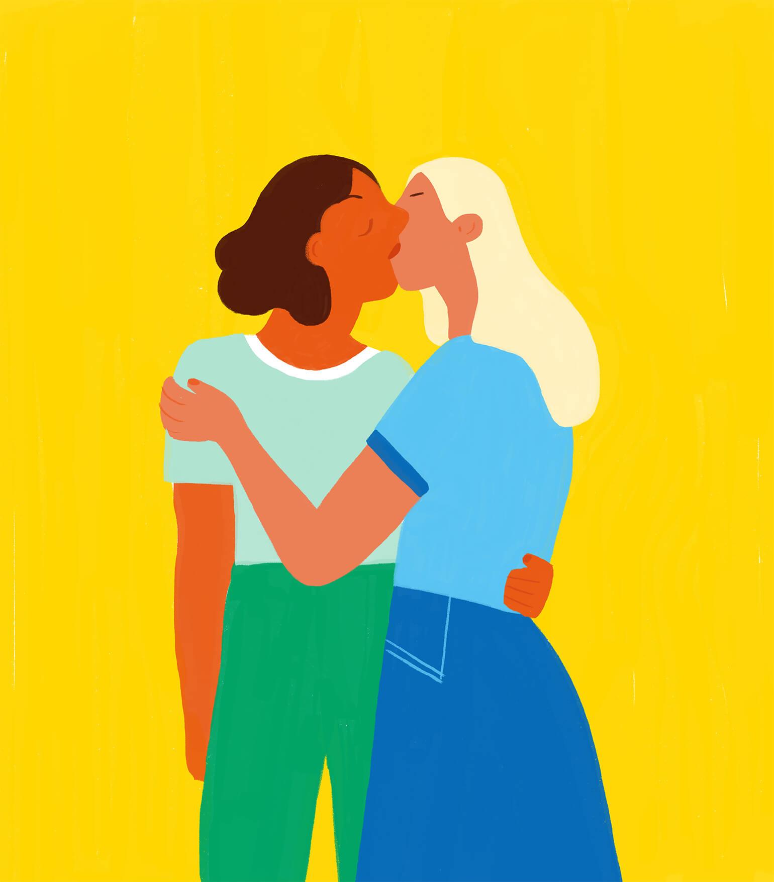pride-month-queer-women-kissing-illustration-violeta-noy