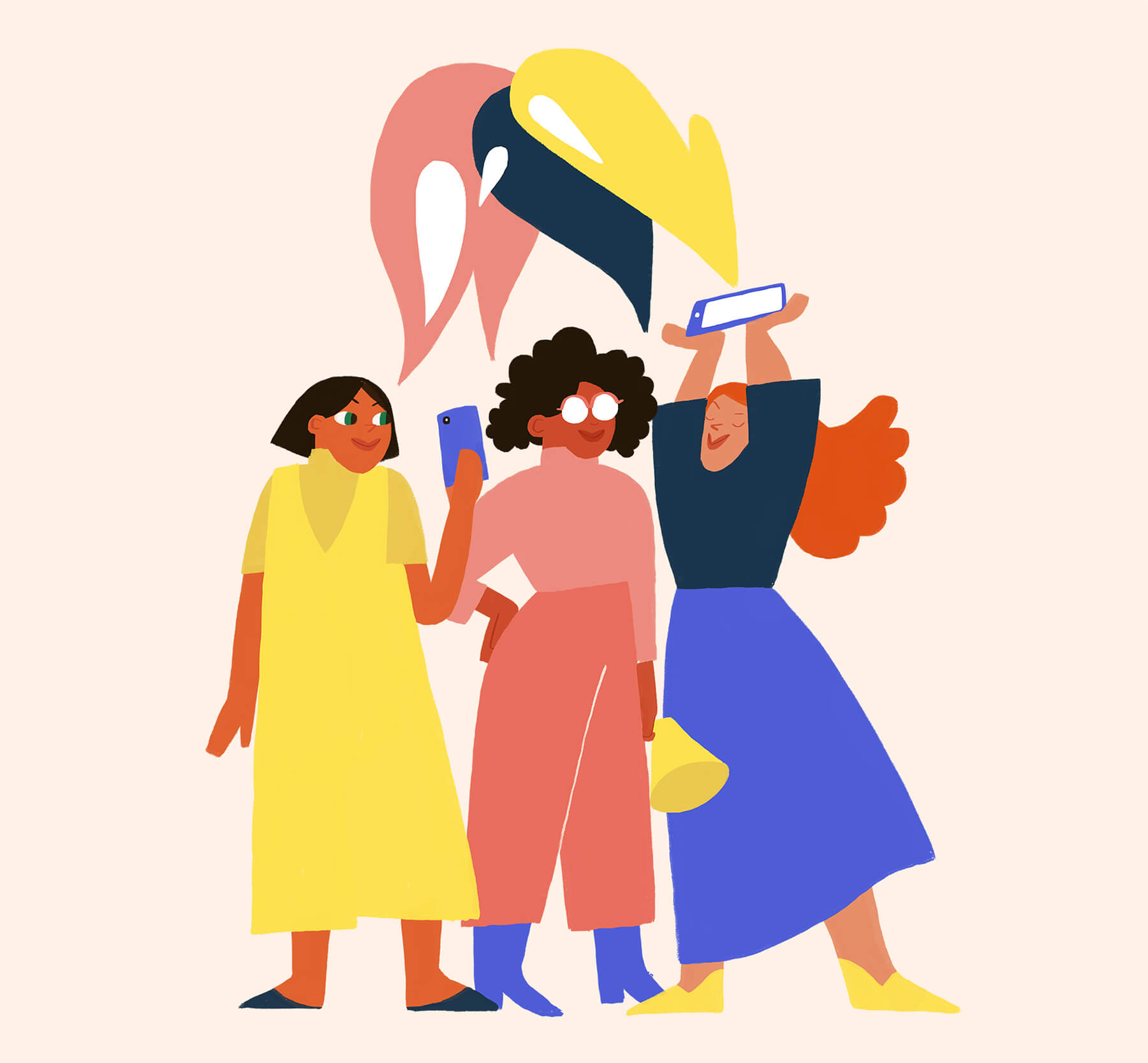 women-together-community-communication-illustration-violeta-noy