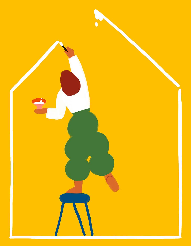 home-woman-drawing-painting-casa-hogar-illustration-violeta-noy