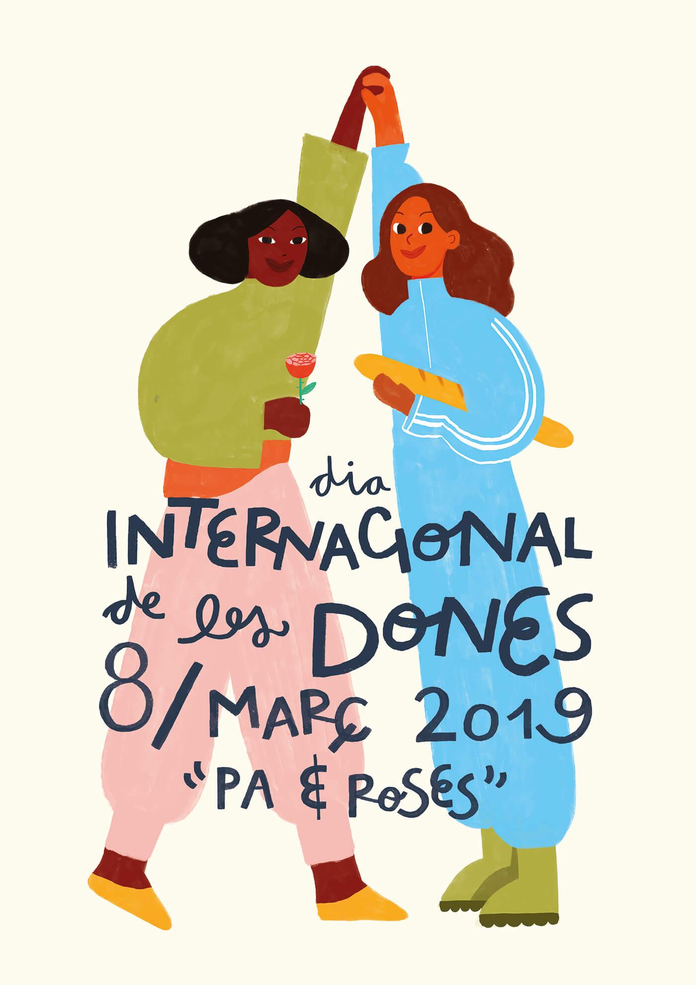 international-womens-day-barcelona-city-council-illustration-feminist-violeta-noy
