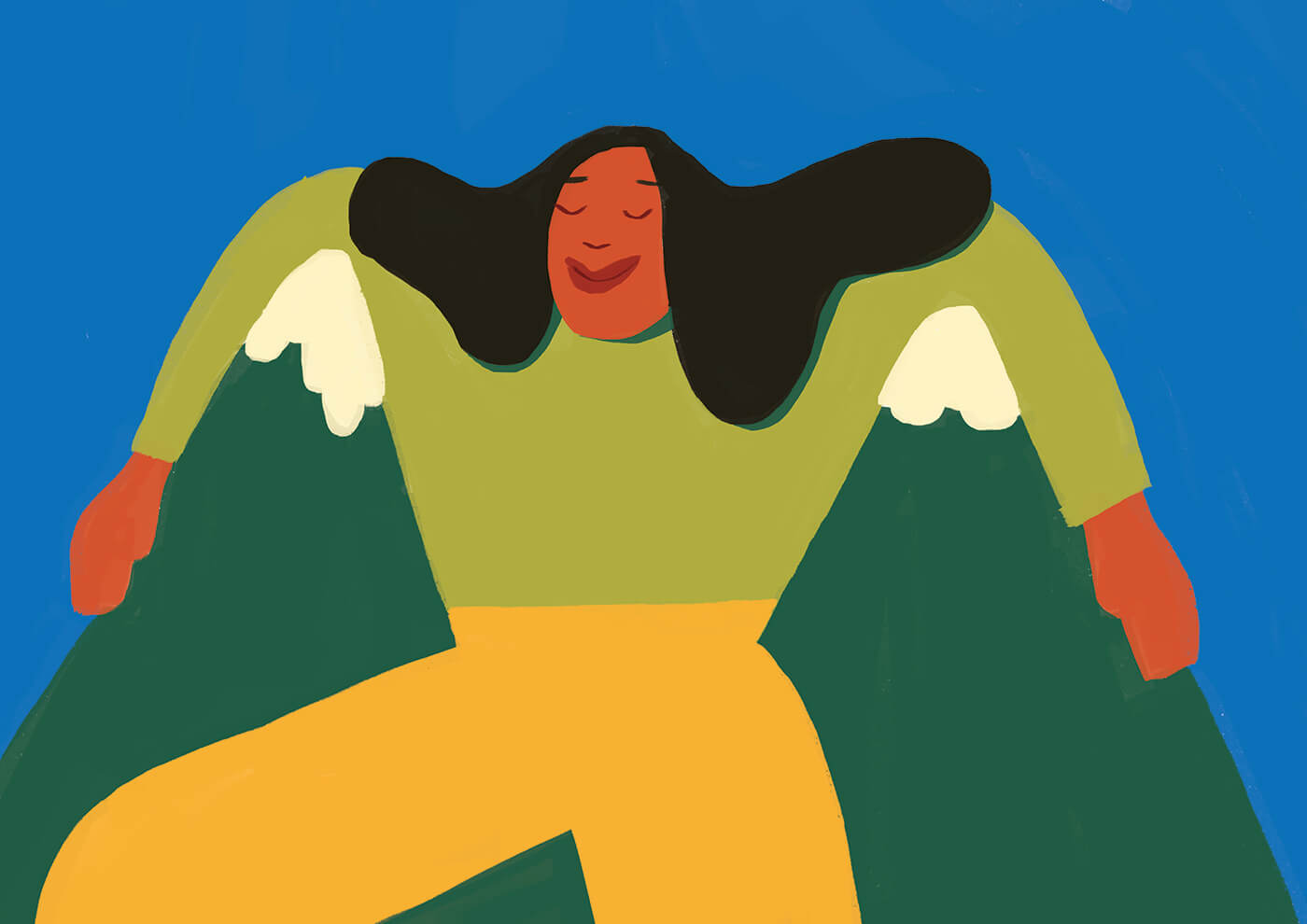 woman-mountains-nature-peaceful-illustration-violeta-noy
