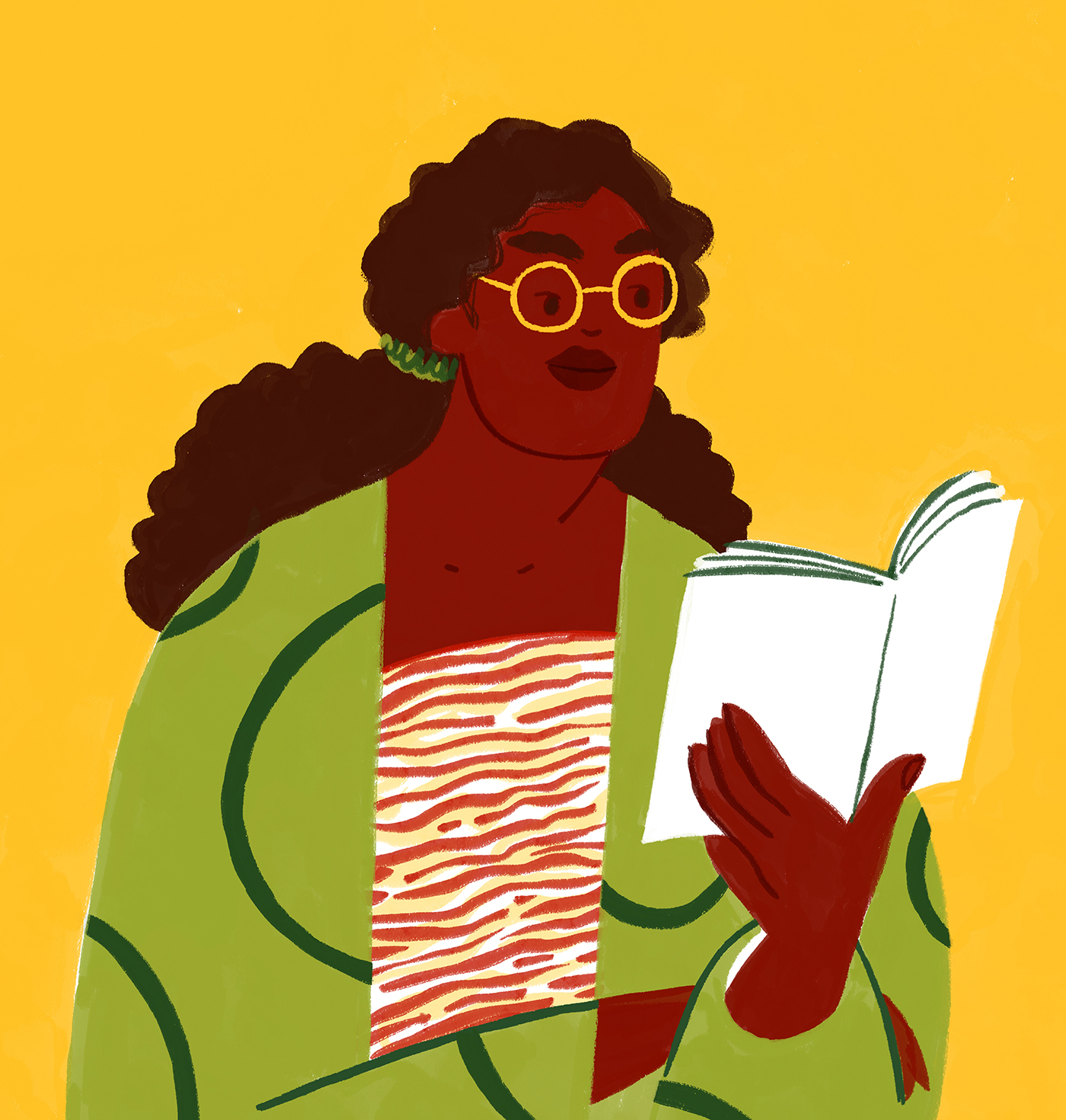 reading-woman-portrait-natural-hair-pattern-illustration-violeta-noy