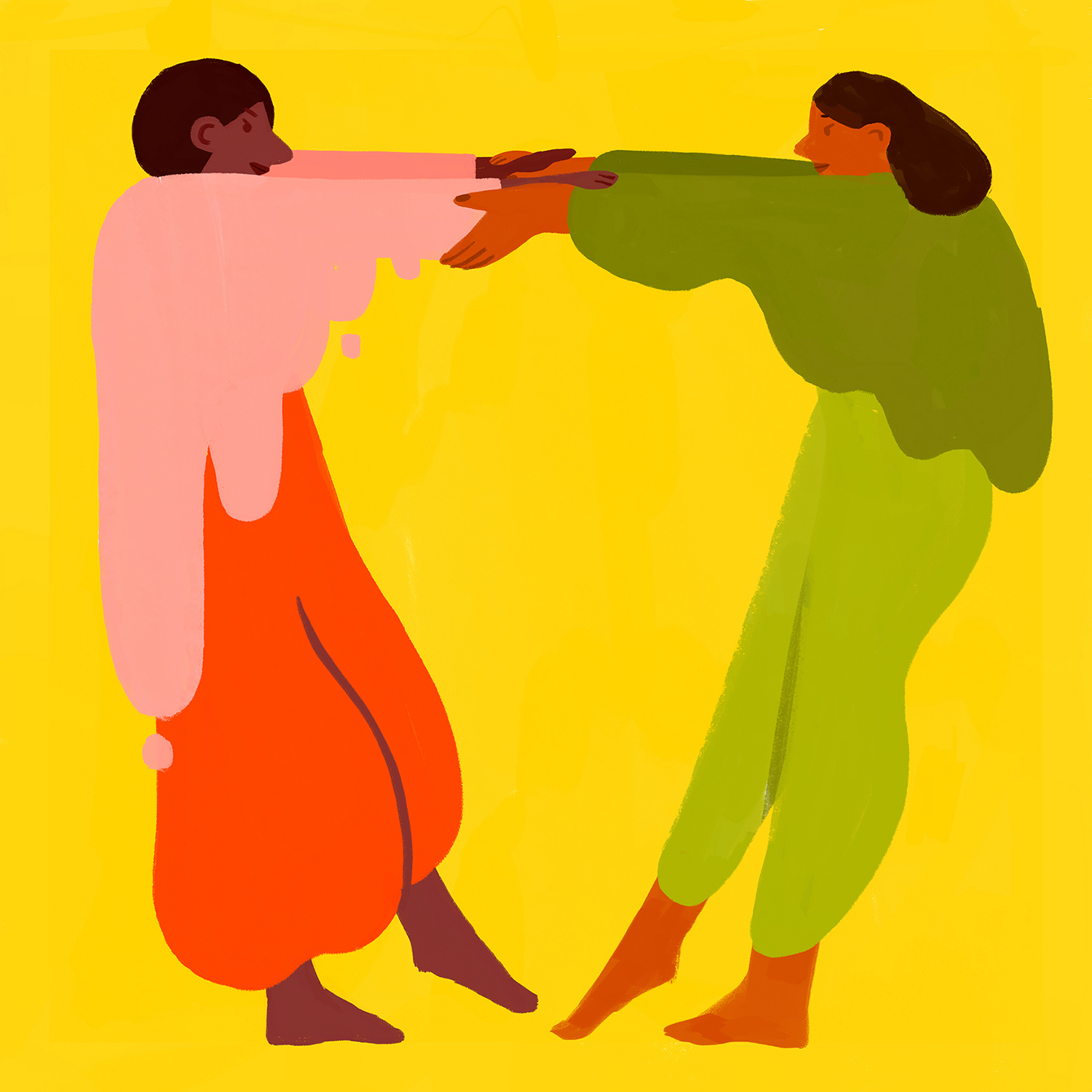 holding-each-other-tight-people-couple-friendship-colorful-yellow-illustration-violeta-noy