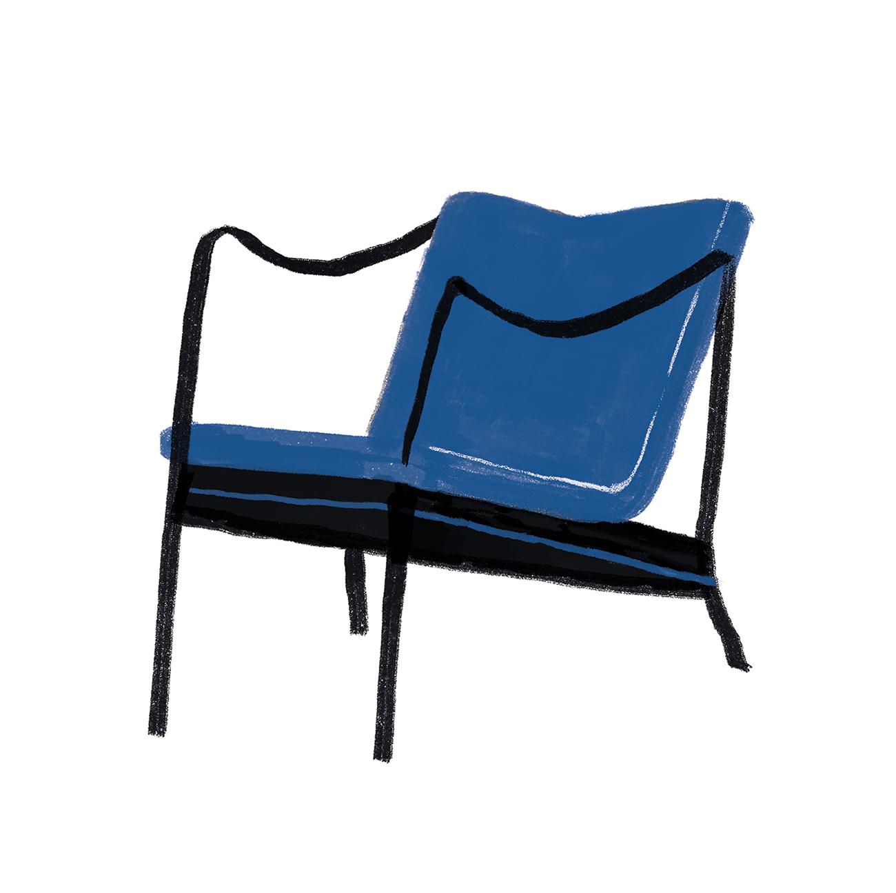 interior-design-women-feminist-chair-obect-Karen-Clemmsen-chair-illustration-violeta-noy