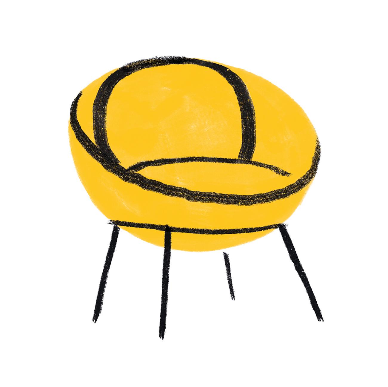 interior-design-women-feminist-chair-obect-Lina-Bo-Bardi-chair-illustration-violeta-noy